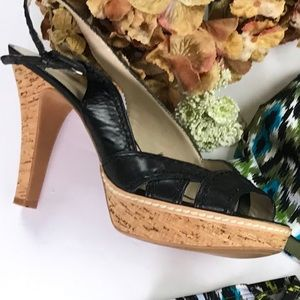 Nine West Cork Heels Size 8.5 M EUC
